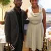 Xavier Epps of XNE Financial Advising, LLC and D.C. Council Member Ward 4 Muriel Bowser at High Tea Society Civili-Tea Enough Incivility Event